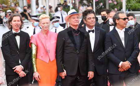 Wes Anderson, Tilda Swinton, Bill Murray, Benicio Del Toro and Alexandre Desplat