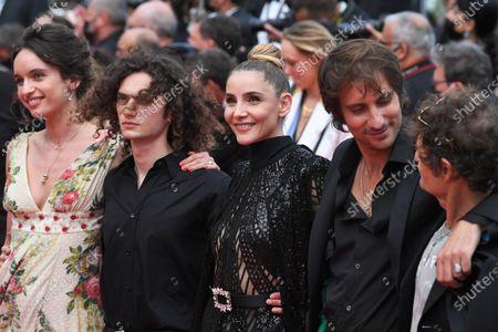 Romeo Creton, Clotilde Courau, Maxime Roy and Francois Creton