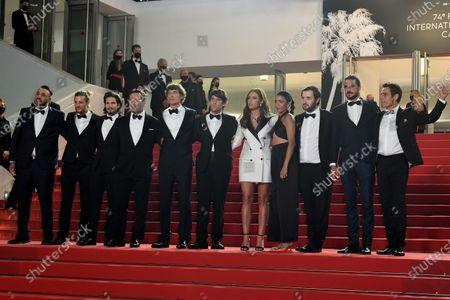Gilles Lellouche, Cedric Jimenez, Hugo Selignac, Adele Exarchopoulos, Kenza Fortas, Karim Leklou, Idir Azougli and Cyril Lecomte