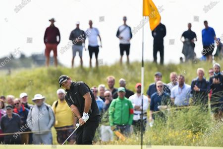 Stock Picture of Patrick Reed on the 2nd green