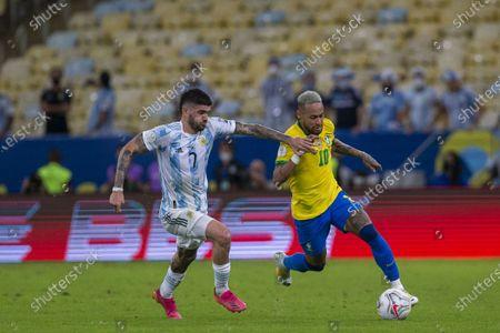 Editorial photo of Brazil v Argentina, Copa America, Final Football match, Maracana, Rio de Janeiro, Brazil - 10 Jul 2021