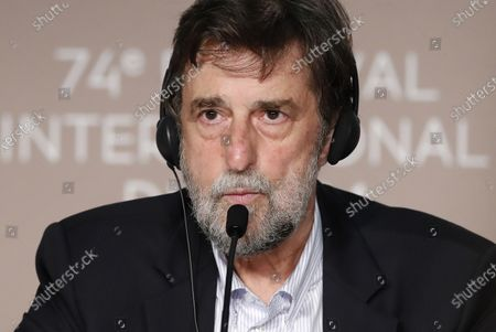 Nanni Moretti attends the press conference for 'Tre Piani (Three Floors)' during the 74th annual Cannes Film Festival, in Cannes, France, 12 July 2021. The movie is presented in the Official Competition of the festival which runs from 06 to 17 July.