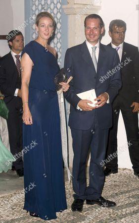 Editorial picture of The wedding of Prince Nikolaos and Tatiana Blatnik, monastery of Ayios Nikolaos, Spetses, Greece - 25 Aug 2010
