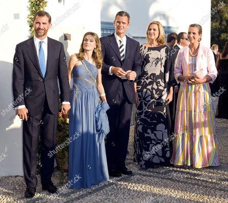 Crown Prince Felipe, Crown Princess Letizia, Inaki Urdangarin, Princess Cristina and Princess Elena