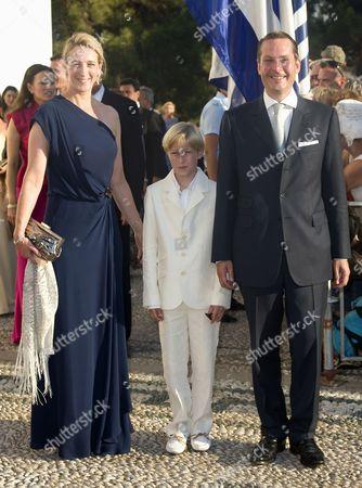 Princess Alexandra of Sayn-Wittgenstein-Berleburg, Count Richard von Pfeil und Klein-Ellguth and Count Jefferson von Pfeil und Klein-Ellguth