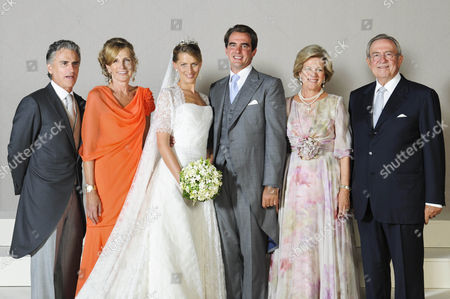 Attilio Brillembourg and Marie-Blanche Brillembourg, Princess Nikolaos, Prince Nikolaos, Queen Anne-Marie and King Constantine