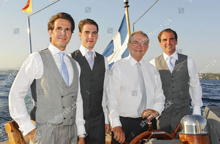 Crown Prince Pavlos, Prince Philippos, King Constantine and Prince Nikolaos