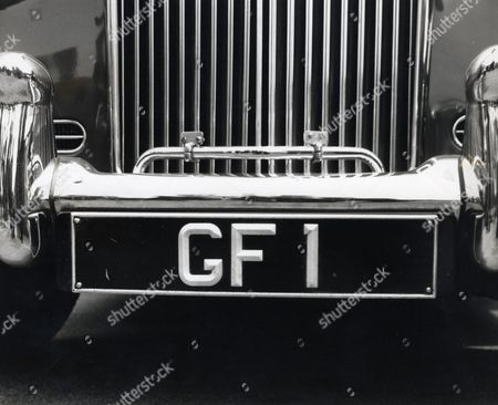 The Number Plate Of A Bentley Owned By Comedian George Formby Who Died 6/3/1961. His Possessions Were Auctioned Today At His Former Home Beryldene In Blackpool.