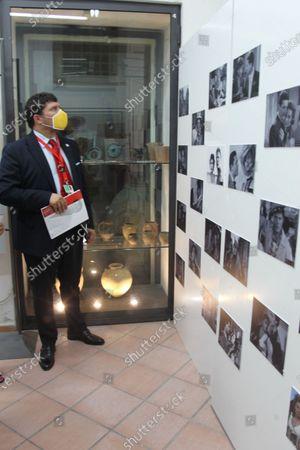 """The photographic exhibition """" """"I 100 volti di Marcello Mastroianni"""" by the director and producer Giuseppe Alessio Nuzzo has been inaugurated at the Museo del Cinema del territorio e della Penisola Sorrentina di Vico Equense.In picture Giuseppe Alessio Nuzzo  the director and producer"""