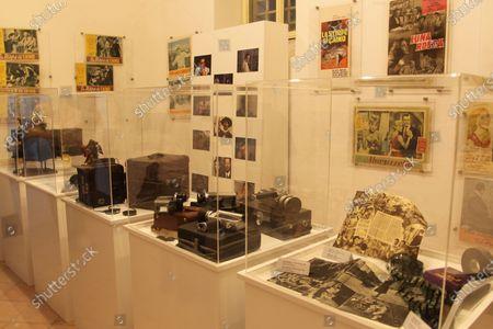 """The photographic exhibition """" """"I 100 volti di Marcello Mastroianni"""" by the director and producer Giuseppe Alessio Nuzzo has been inaugurated at the Museo del Cinema del territorio e della Penisola Sorrentina di Vico Equense.In picture a GV"""