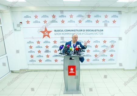 Editorial picture of Socialist leader Igor Dodon's press conference in Chisinau, Moldova Republic Of - 12 Jul 2021