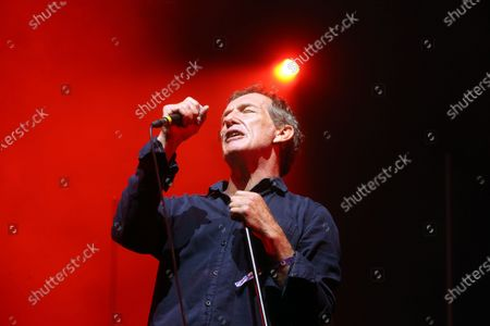 French singer Miossec performs on the 2nd day of the 29th edition of the musical festival Les Vieilles Charrues in Carhaix-Plouguer, western France, on July 9, 2021.