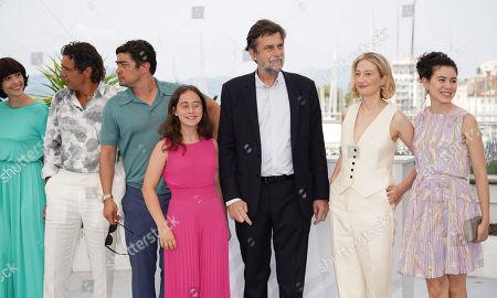 Elena Lietti, Adriano Giannini, Riccardo Scamarcio, guest, Nanni Moretti, Alba Rohrwacher and Gea Dall'Orto