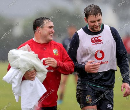 British & Irish Lions Squad Training, South Africa 12/7/2021. Jamie George and Iain Henderson