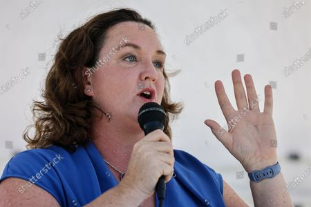Editorial picture of Katie Porter town hall in Irvine, Mike Ward Community Park, Irvine, California, United States - 11 Jul 2021