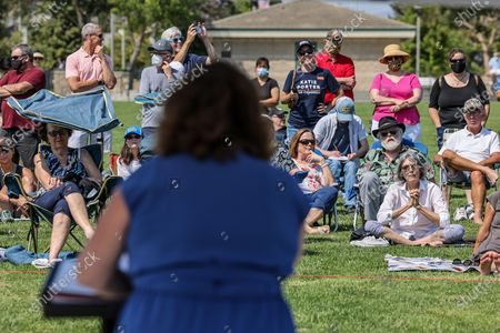 Irvine, CA, Sunday, July 11, 2021 - Representative Katie Porter (D-CA45) conducts a town hall meeting at Mike Ward Community Park. (Robert Gauthier/Los Angeles Times)