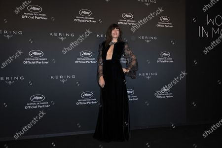 Stock Image of Lou Doillon poses for photographers upon arrival at the Kering Women In Motion Awards during the 74th international film festival, Cannes, southern France
