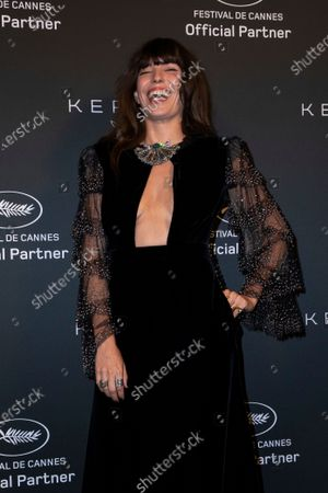 Stock Photo of Lou Doillon poses for photographers upon arrival at the Kering Women In Motion Awards during the 74th international film festival, Cannes, southern France