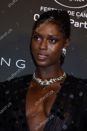 Jodie Turner-Smith poses for photographers upon arrival at the Kering Women In Motion Awards during the 74th international film festival, Cannes, southern France