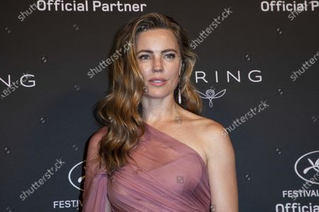 Melissa George poses for photographers upon arrival at the Kering Women In Motion Awards during the 74th international film festival, Cannes, southern France