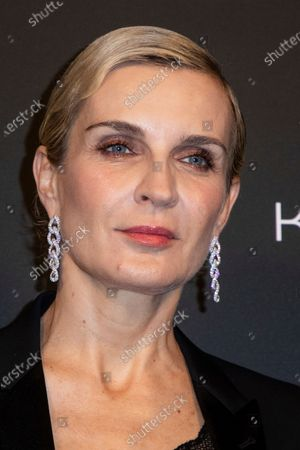 Melita Toscan Du Plantier poses for photographers upon arrival at the Kering Women In Motion Awards during the 74th international film festival, Cannes, southern France