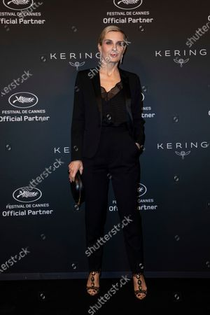 Stock Photo of Melita Toscan Du Plantier poses for photographers upon arrival at the Kering Women In Motion Awards during the 74th international film festival, Cannes, southern France