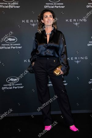 Mademoiselle Agnes poses for photographers upon arrival at the Kering Women In Motion Awards during the 74th international film festival, Cannes, southern France