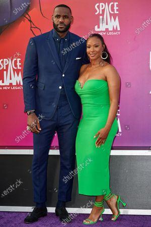 Stock Image of LeBron James and  Savannah Brinson