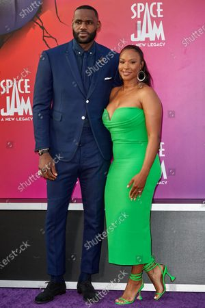 Stock Photo of LeBron James and  Savannah Brinson