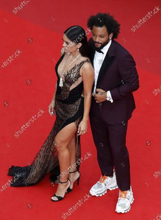 Marcelo Vieira (R) and wife Clarisse Alves arrive for the screening of 'The French Dispatch' during the 74th annual Cannes Film Festival, in Cannes, France, 12 July 2021. The movie is presented in the Official Competition of the festival which runs from 06 to 17 July.