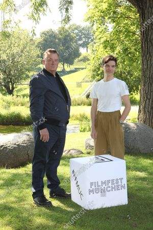 "World premiere of ""Ferdinand von Schirach - Faith"" at the cinema on Lake Olympiasee in Munich on July 10, 2021, as part of the Filmfest München. Peter Kurth and Sebastian Urzendowsky"