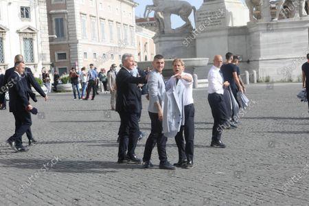 """Editorial picture of Matteo Berrettini and """"the azzurri"""" at Quirinale, Rome, Italy - 12 Jul 2021"""