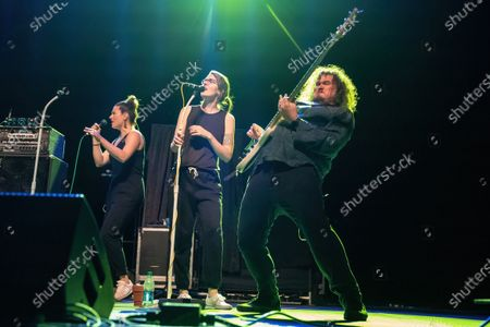 Stock Image of Matthew Milligan (R) of Wheatus performs in concert during the Summerland Tour at the HEB Center