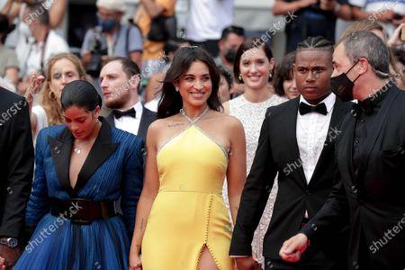Stock Picture of Camelia Jordana, Naomi Diaz, Aymerick Moucouveia and Yann Kidou