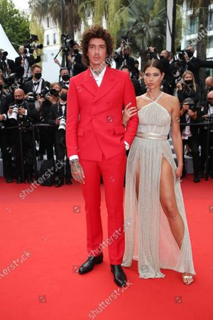 Kambree Dalton and Julian Perretta are waiting for The French Dispatch Red Carpet during 74th Cannes International Film Festival, at the Palais des Festivals in Cannes, France, on July 12, 2021. 07/12/2021 - Cannes, France.