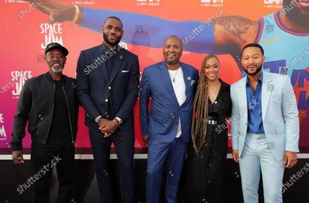 Don Cheadle, LeBron James, Malcolm D. Lee, Director, Sonequa Martin-Green, John Legend