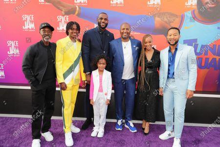 Don Cheadle, Ceyair J Wright, LeBron James, Malcolm D. Lee, Director, Harper Leigh Alexander, Sonequa Martin-Green, John Legend