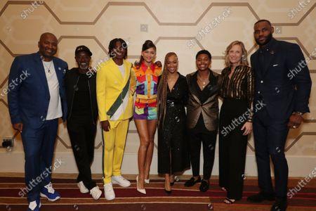 Malcolm D. Lee, Director, Don Cheadle, Ceyair J Wright, Zendaya, Sonequa Martin-Green, Cedric Joe, Ann Sarnoff, Chairman and CEO of Warner Bros, LeBron James