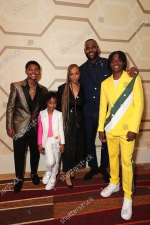 Stock Picture of Cedric Joe, Harper Leigh Alexander, Sonequa Martin-Green, LeBron James, Ceyair J Wright