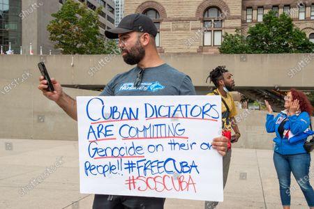 Editorial picture of Cubans Demanding Change, Toronto, Canada - 12 Jul 2021