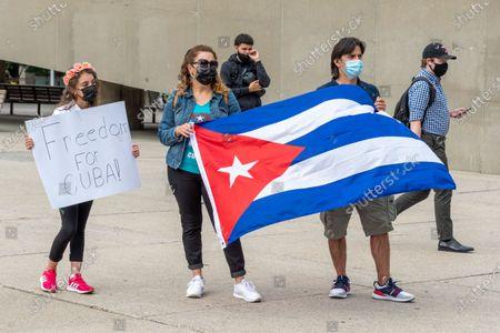 Editorial photo of Cubans Demanding Change, Toronto, Canada - 12 Jul 2021
