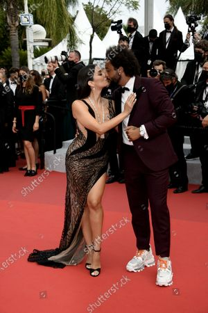 74th Cannes Film Festival, Red Carpet Film The French Dispatch. Pictured Marcelo Vieira, Clarisse Alves