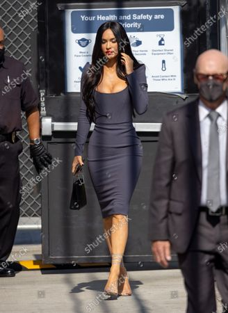 Stock Picture of Megan Fox is seen at 'Jimmy Kimmel Live'