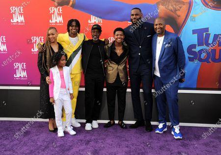 Stock Photo of Don Cheadle, Ceyair Wright, LeBron James, Harper Leigh Alexander, Malcolm D Lee, Sonequa Martin-Green, and John Legend