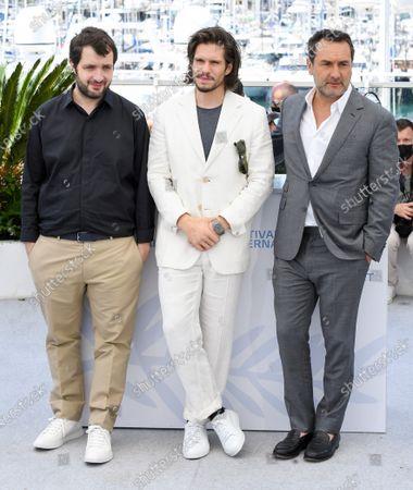 Karim Leklou, Francois Civil and Gilles Lellouche