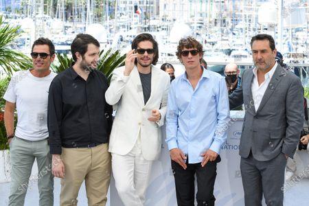 Cyril Lecomte, Karim Leklou, Francois Civil, Cedric Jiminez and Gilles Lellouches