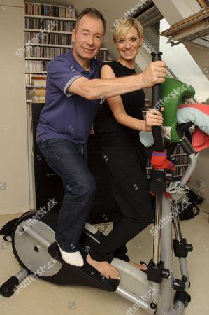 Stock Image of 'Story Book' journalist Jelena Velijaca and author Tony Parsons
