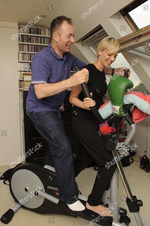 Stock Picture of 'Story Book' journalist Jelena Velijaca and author Tony Parsons