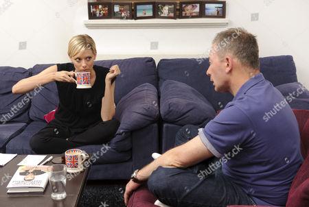 Stock Photo of 'Story Book' journalist Jelena Velijaca and author Tony Parsons