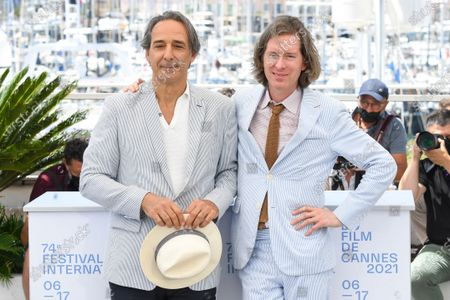 Stock Picture of Alexandre Desplat and Wes Anderson